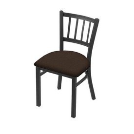 """610 Contessa 18"""" Chair with Pewter Finish and Rein Coffee Seat"""