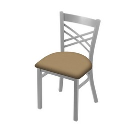 """620 Catalina 18"""" Chair with Anodized Nickel Finish and Canter Sand Seat"""