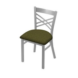 """620 Catalina 18"""" Chair with Anodized Nickel Finish and Graph Parrot Seat"""