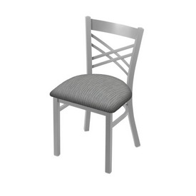 "620 Catalina 18"" Chair with Anodized Nickel Finish and Graph Alpine Seat"