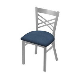 """620 Catalina 18"""" Chair with Anodized Nickel Finish and Rein Bay Seat"""