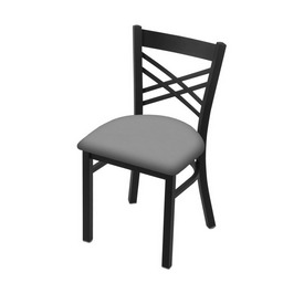 """620 Catalina 18"""" Chair with Black Wrinkle Finish and Canter Folkstone Grey Seat"""