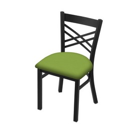 """620 Catalina 18"""" Chair with Black Wrinkle Finish and Canter Kiwi Green Seat"""