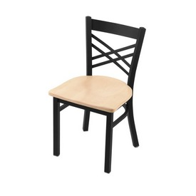 """620 Catalina 18"""" Chair with Black Wrinkle Finish and Natural Maple Seat"""