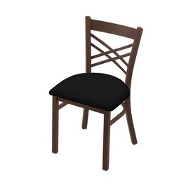 """620 Catalina 18"""" Chair with Bronze Finish and Black Vinyl Seat"""