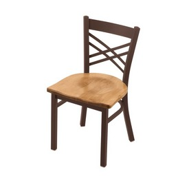 "620 Catalina 18"" Chair with Bronze Finish and Medium Maple Seat"