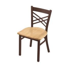 "620 Catalina 18"" Chair with Bronze Finish and Natural Oak Seat"