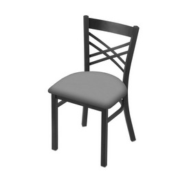 """620 Catalina 18"""" Chair with Pewter Finish and Canter Folkstone Grey Seat"""