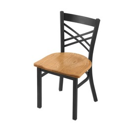 """620 Catalina 18"""" Chair with Pewter Finish and Medium Oak Seat"""