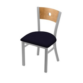 """630 Voltaire 18"""" Chair with Anodized Nickel Finish, Medium Back, and Canter Twilight Seat"""