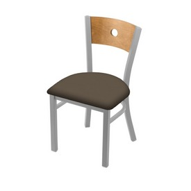 "630 Voltaire 18"" Chair with Anodized Nickel Finish, Medium Back, and Canter Earth Seat"