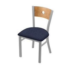 "630 Voltaire 18"" Chair with Anodized Nickel Finish, Medium Back, and Graph Anchor Seat"