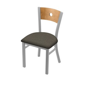 """630 Voltaire 18"""" Chair with Anodized Nickel Finish, Medium Back, and Graph Chalice Seat"""