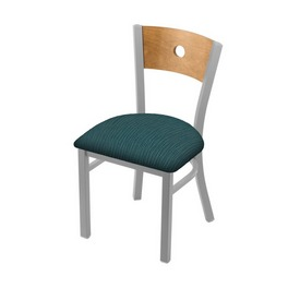 """630 Voltaire 18"""" Chair with Anodized Nickel Finish, Medium Back, and Graph Tidal Seat"""