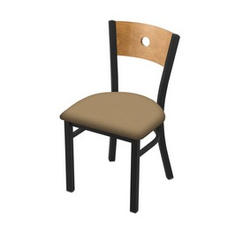 "630 Voltaire 18"" Chair with Black Wrinkle Finish, Medium Back, and Canter Sand Seat"