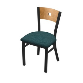 "630 Voltaire 18"" Chair with Black Wrinkle Finish, Medium Back, and Graph Tidal Seat"