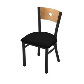"630 Voltaire 18"" Chair with Black Wrinkle Finish, Medium Back, and Black Vinyl Seat"