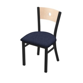 "630 Voltaire 18"" Chair with Black Wrinkle Finish, Natural Back, and Graph Anchor Seat"