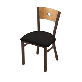 """630 Voltaire 18"""" Chair with Bronze Finish, Medium Back, and Canter Espresso Seat"""