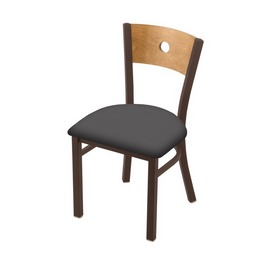 """630 Voltaire 18"""" Chair with Bronze Finish, Medium Back, and Canter Storm Seat"""