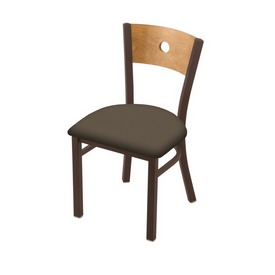 """630 Voltaire 18"""" Chair with Bronze Finish, Medium Back, and Canter Earth Seat"""