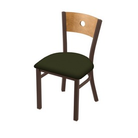 "630 Voltaire 18"" Chair with Bronze Finish, Medium Back, and Canter Pine Seat"