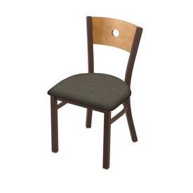 """630 Voltaire 18"""" Chair with Bronze Finish, Medium Back, and Graph Chalice Seat"""