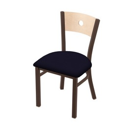 """630 Voltaire 18"""" Chair with Bronze Finish, Natural Back, and Canter Twilight Seat"""