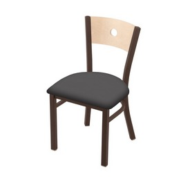 "630 Voltaire 18"" Chair with Bronze Finish, Natural Back, and Canter Storm Seat"