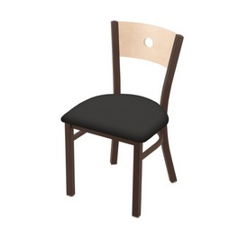 "630 Voltaire 18"" Chair with Bronze Finish, Natural Back, and Canter Iron Seat"