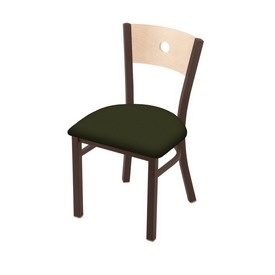 """630 Voltaire 18"""" Chair with Bronze Finish, Natural Back, and Canter Pine Seat"""