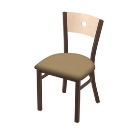 """630 Voltaire 18"""" Chair with Bronze Finish, Natural Back, and Canter Sand Seat"""