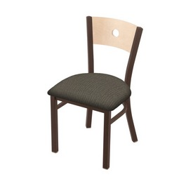 "630 Voltaire 18"" Chair with Bronze Finish, Natural Back, and Graph Chalice Seat"