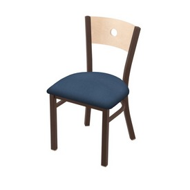 "630 Voltaire 18"" Chair with Bronze Finish, Natural Back, and Rein Bay Seat"