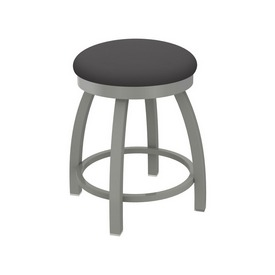 """802 Misha 18"""" Swivel Vanity Stool with Anodized Nickel Finish and Canter Storm Seat"""