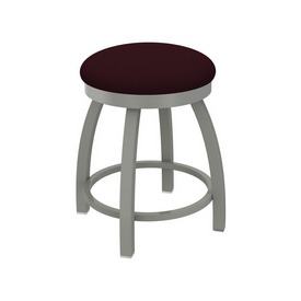 """802 Misha 18"""" Swivel Vanity Stool with Anodized Nickel Finish and Canter Bordeaux Seat"""