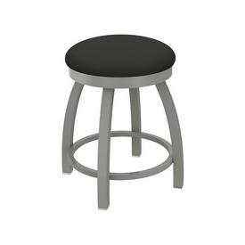 "802 Misha 18"" Swivel Vanity Stool with Anodized Nickel Finish and Canter Iron Seat"