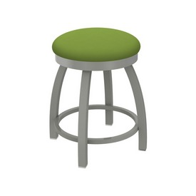 "802 Misha 18"" Swivel Vanity Stool with Anodized Nickel Finish and Canter Kiwi Green Seat"