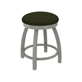 """802 Misha 18"""" Swivel Vanity Stool with Anodized Nickel Finish and Canter Pine Seat"""