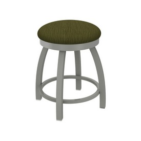 """802 Misha 18"""" Swivel Vanity Stool with Anodized Nickel Finish and Graph Parrot Seat"""