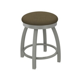 """802 Misha 18"""" Swivel Vanity Stool with Anodized Nickel Finish and Graph Cork Seat"""