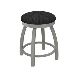 """802 Misha 18"""" Swivel Vanity Stool with Anodized Nickel Finish and Graph Coal Seat"""