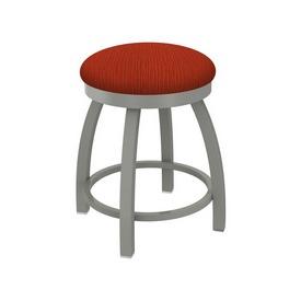 "802 Misha 18"" Swivel Vanity Stool with Anodized Nickel Finish and Graph Poppy Seat"