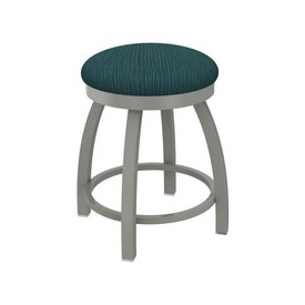 """802 Misha 18"""" Swivel Vanity Stool with Anodized Nickel Finish and Graph Tidal Seat"""