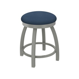 """802 Misha 18"""" Swivel Vanity Stool with Anodized Nickel Finish and Rein Bay Seat"""