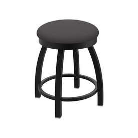 """802 Misha 18"""" Swivel Vanity Stool with Black Wrinkle Finish and Canter Storm Seat"""