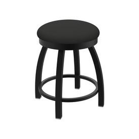 "802 Misha 18"" Swivel Vanity Stool with Black Wrinkle Finish and Canter Iron Seat"