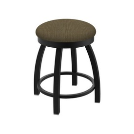 "802 Misha 18"" Swivel Vanity Stool with Black Wrinkle Finish and Graph Cork Seat"