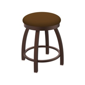 """802 Misha 18"""" Swivel Vanity Stool with Bronze Finish and Canter Thatch Seat"""