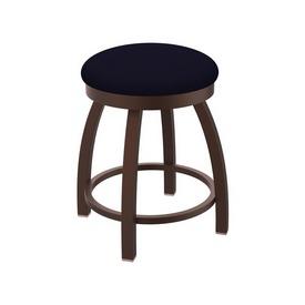 "802 Misha 18"" Swivel Vanity Stool with Bronze Finish and Canter Twilight Seat"